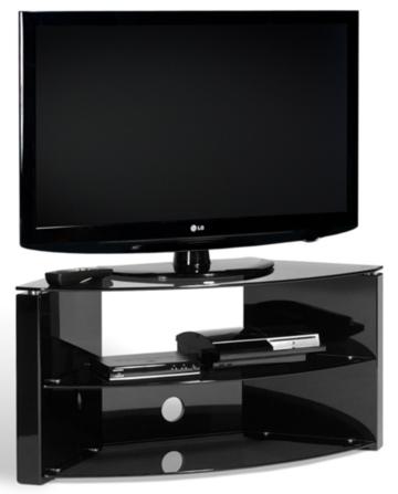 Techlink Bench Piano Black Corner Tv Stand