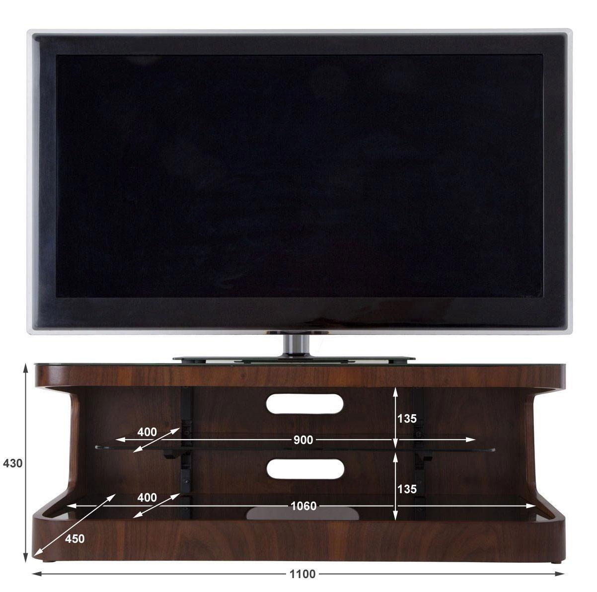 avf winchester walnut tv stand for up to 55 ebay. Black Bedroom Furniture Sets. Home Design Ideas