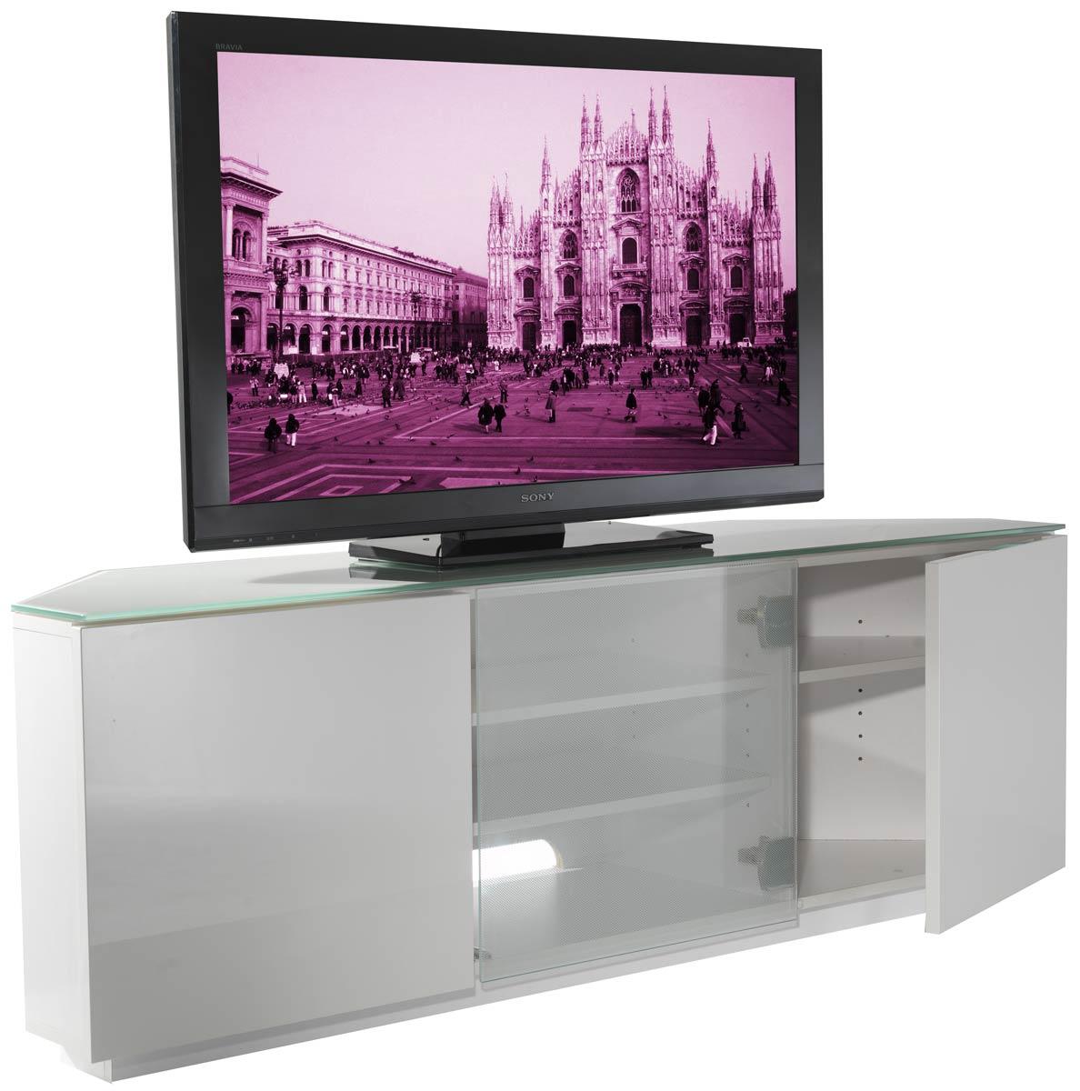 uk cf milan wht wht fully assembled tv stand. Black Bedroom Furniture Sets. Home Design Ideas