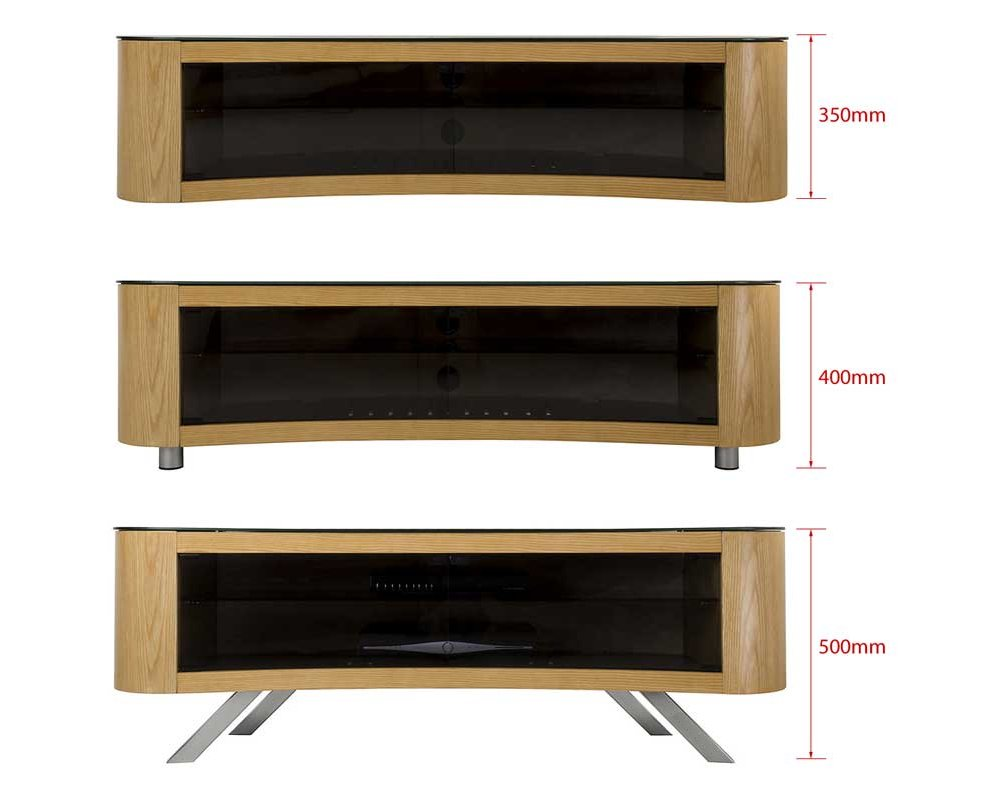 Avf Curved Bay Tv Stand Round Unit For