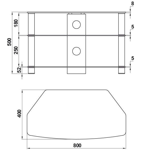 Brisa Entertainment Unit: ValuFurniture Brisa 800 Mm Glass Corner TV Stand For Up To