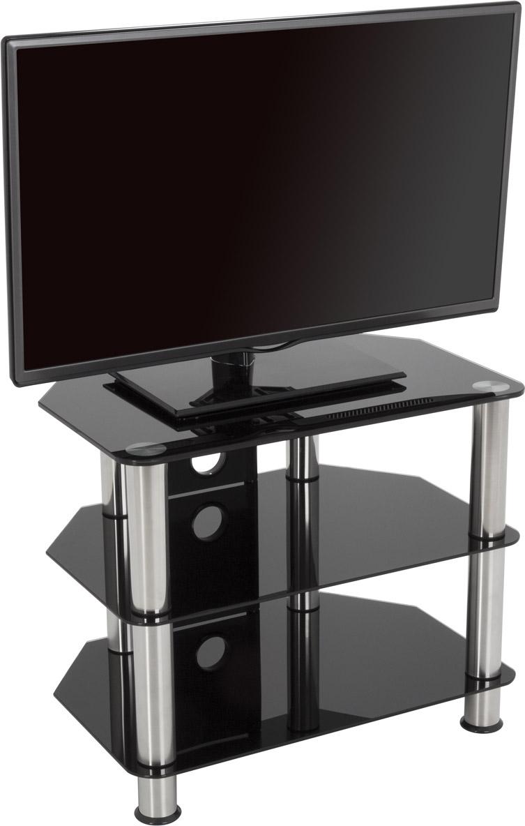 Avf universal black glass tv stand 600mm for tvs 14 to 32 for Avf furniture