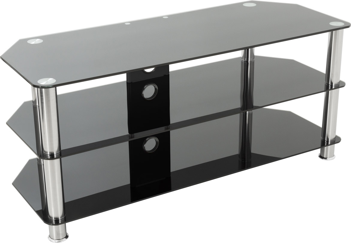 """AVF Universal Black Glass TV Stand 1140mm For TVs 37"""" to ..."""
