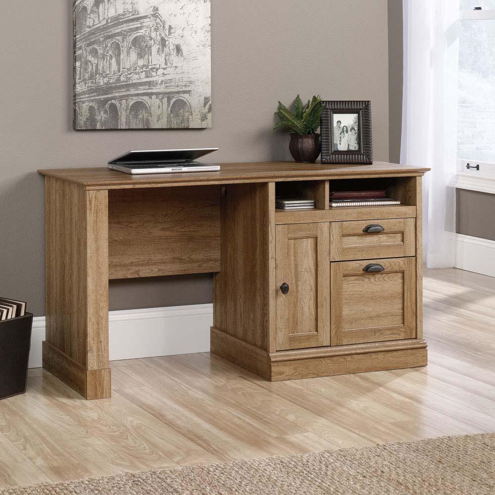 DSK Galway Plus Scribed Oak Storage Desk With Hutch