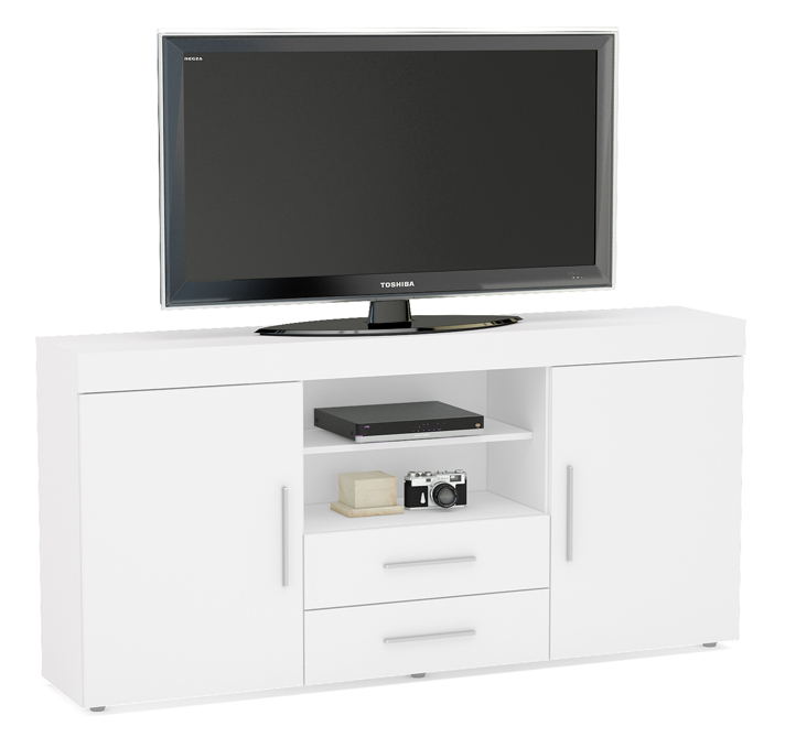 Tv Tables Menard High Gloss Tv Unit: TNW Carnaby L-TV-WHT Large High Gloss TV Unit For Up To 65