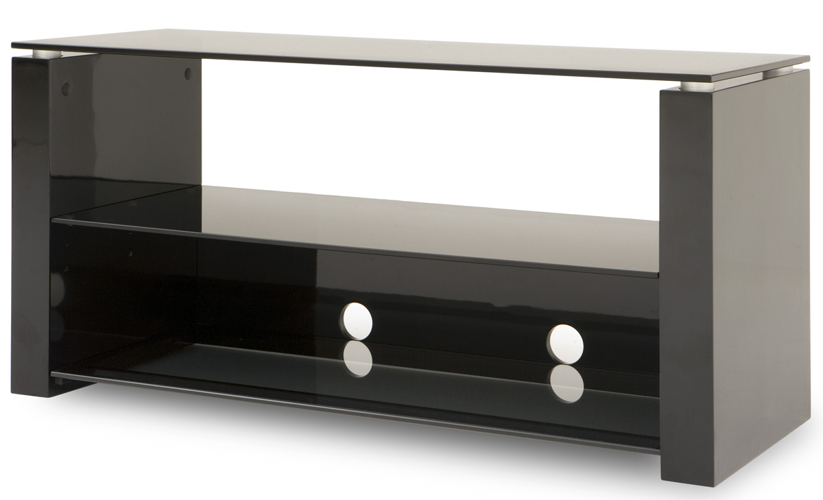 Techlink B2b Bench Piano Black And Smoked Glass Stand For