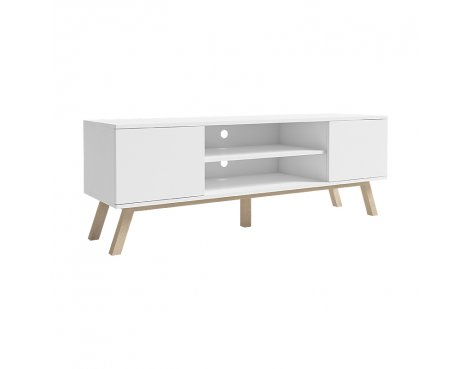 """Selsey Vero Wood 1500 TV Stand for TVs up to 70\"""" - White Matt"""