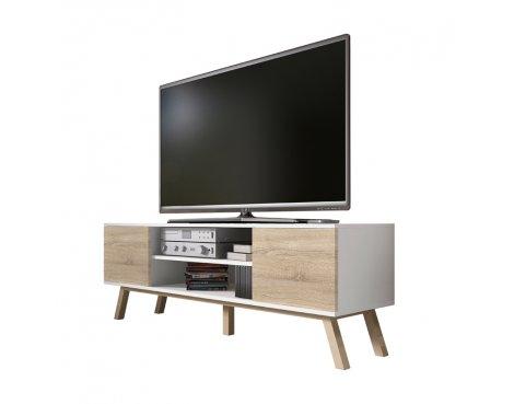 "Selsey Vero Wood 1500 TV Stand for TVs up to 70\"" - White Matt & Sonoma Oak"