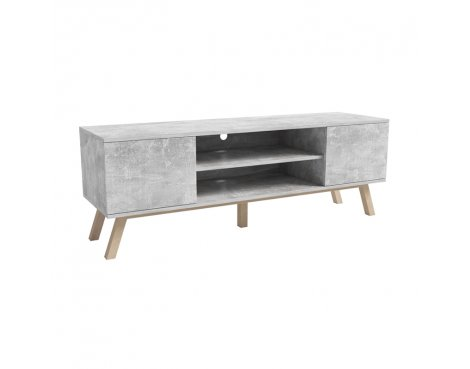 "Selsey Vero Wood 1500 TV Stand for TVs up to 70"" - Concrete"