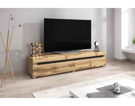 """Selsey Taylor 1800 TV Stand for TVs up to 90\"""" - Oak"""