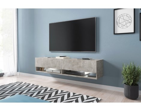 "Selsey Wander 1400 TV Stand for TVs up to 64"" - Concrete"