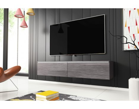 """Selsey Kane 1400 TV Stand for TVs up to 64\"""" with LED Lighting Kit - Bodega"""