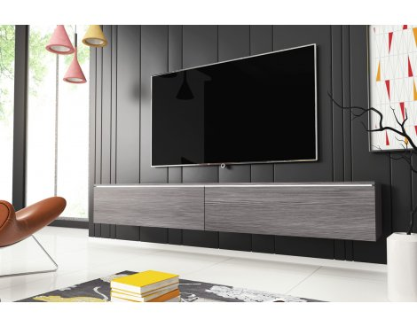 """Selsey Kane 1800 TV Stand for TVs up to 90\"""" with LED Lighting Kit - Bodega"""