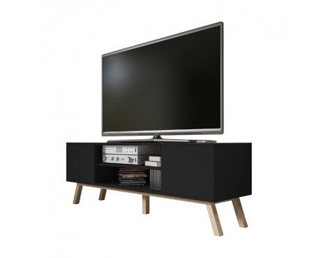 "Selsey Vero Wood 1500 TV Stand for TVs up to 70"" - Black Matt"