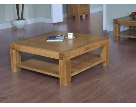 Rustic Grange Santana Blonde Oak Square Coffee Table