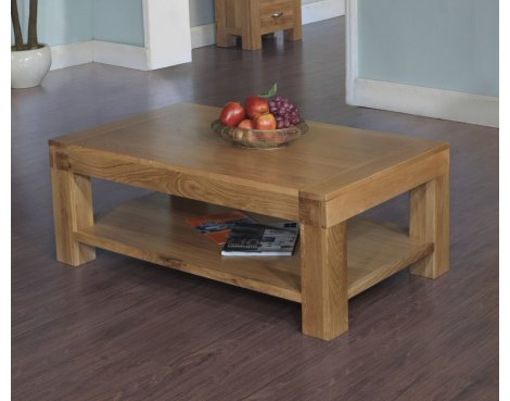 Rustic Grange Santana Blonde Oak Coffee Table 120 x 70cm