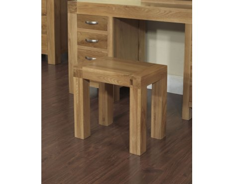 Rustic Grange Santana Blonde Oak Dressing Table Stool