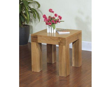 Rustic Grange Santana Blonde Oak Lamp Table