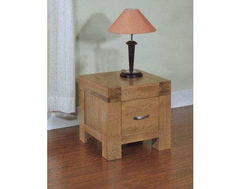 Rustic Grange Santana Blonde Oak 1 Drawer Lamp Table