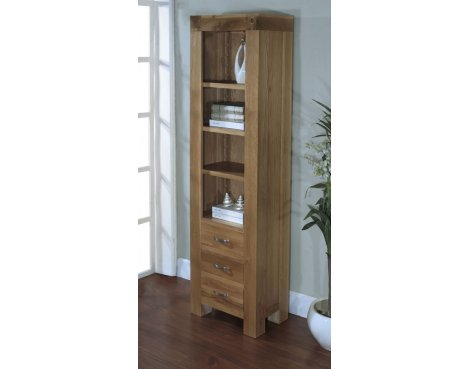Rustic Grange Santana Blonde Oak Slim Bookcase