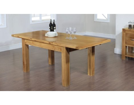 Rustic Grange Santana Blonde Oak Dining Extending Table