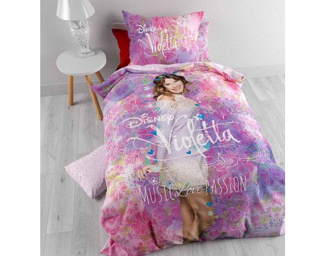 Disney Violetta Music Duvet Cover Set For Kids - Multicoloured - Single 3ft
