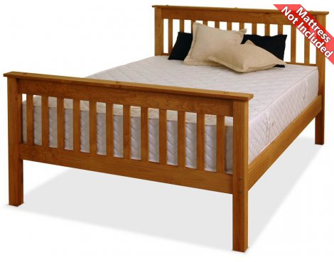 Amani Somerset King Size Waxed Pine Bed Frame - No Drawers