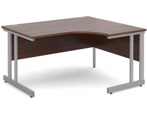 DSK Momento 1400mm Right Hand Ergonomic Desk - Walnut