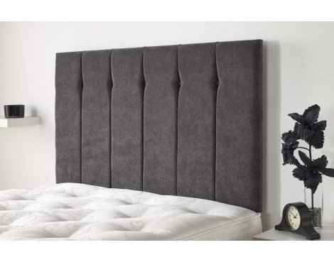 Aspire Furniture Portmoor Headboard in Katsuro Linen Fabric - Pewter - King 5ft