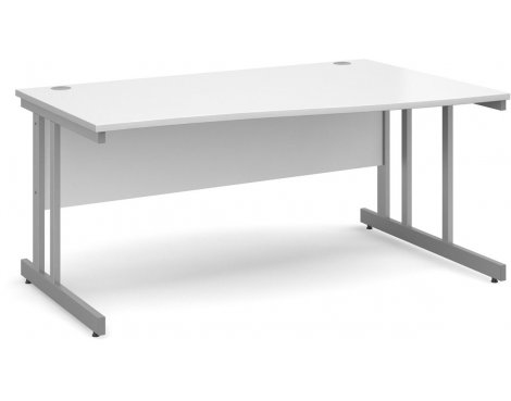 DSK Momento 1600mm Right Hand Wave Desk - White