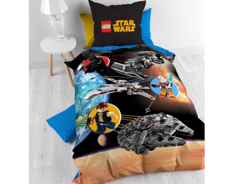 Disney Lego Star Wars Duvet Cover Set For Kids - Multicoloured - Single 3ft