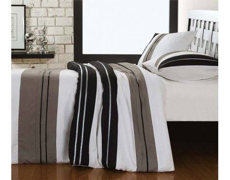 Fancy Embroidery London Duvet Cover Set - Grey - Double 4ft6