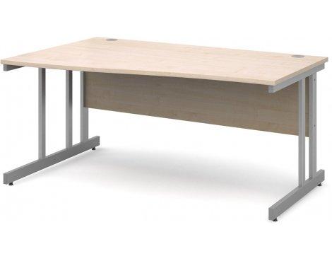 DSK Momento 1600mm Left Hand Wave Desk - Maple