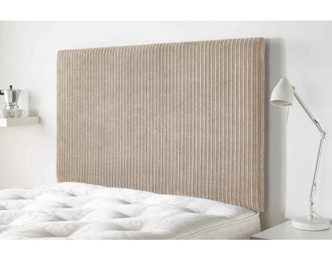 Aspire Furniture Lightmoor Headboard in Loumaire Corded Fabric - Sand - Double 4ft6