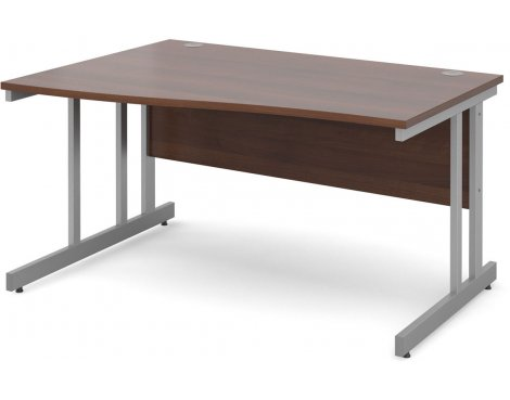 DSK Momento 1400mm Left Hand Wave Desk - Walnut