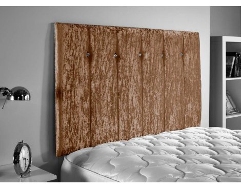ValuFurniture Jubilee Velvet Fabric Headboard - Truffle - Small Double 4ft