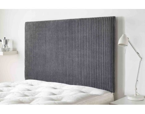 Aspire Furniture Lightmoor Headboard in Loumaire Corded Fabric - Charcoal - King 5ft