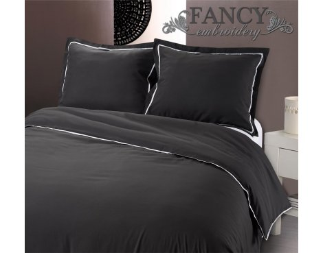Fancy Embroidery Messina Anthracite Duvet Cover Set - Grey - Single 3ft