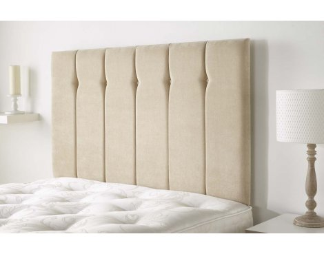 Aspire Furniture Portmoor Headboard in Katsuro Linen Fabric - Beige - Double 4ft6