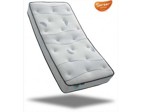Sareer Cool Blue Memory Coil Mattress - Medium - Double 4ft6