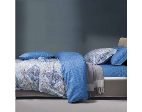 Primaviera Deluxe SL 40 Kaylee Duvet Cover Set - Blue - Double 4ft6