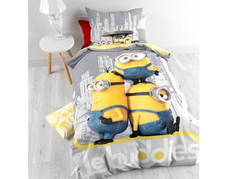 Universal Minions Chilling Duvet Cover Set For Kids - Multicoloured - Single 3ft