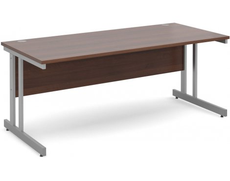 DSK Momento 1800mm Straight Desk - Walnut
