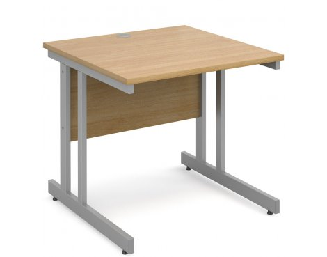 DSK Momento 800mm Straight Desk - Light Oak