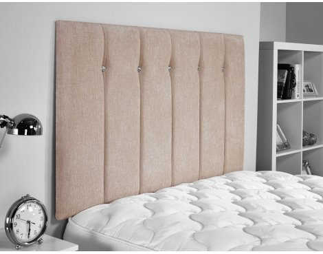 ValuFurniture Jubilee Chenille Fabric Headboard - Caramel - King 5ft