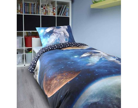 Dreamhouse Space Man Duver Cover Set For Kids - Multicoloured - Single 3ft