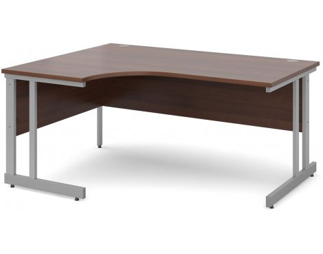 DSK Momento 1600mm Left Hand Ergonomic Desk - Walnut