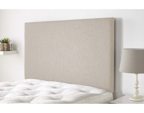 Aspire Furniture Derwent Headboard in Malham Weave Fabric - Cream - King 5ft