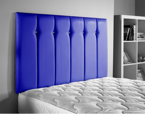 ValuFurniture Jubilee Leather Headboard - Blue - Small Double 4ft