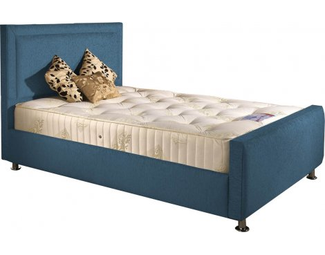 ValuFurniture Calverton Divan Bed & Mattress Set - Teal Chenille Fabric - Super King - 6ft